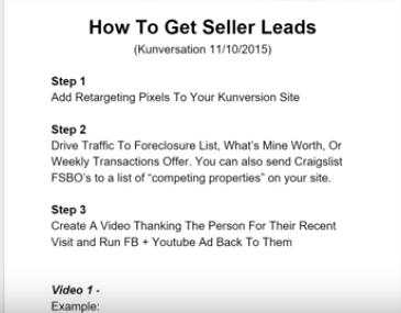 Seller Lead Generation w/Video Retargeting (Kunversation 11/10/2015)